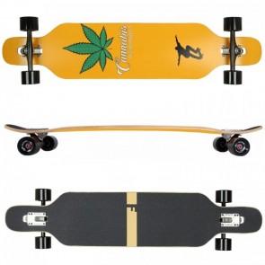 FunTomia Longboard Ahornholz - Farbe Cannabis (Flex2)