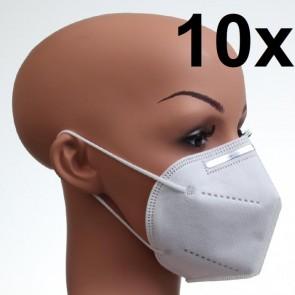 10 Stück KN95 Maske Atemschutzmaske Feinstaubmaske Nur 1,29 EURO pro Maske + Versandkosten
